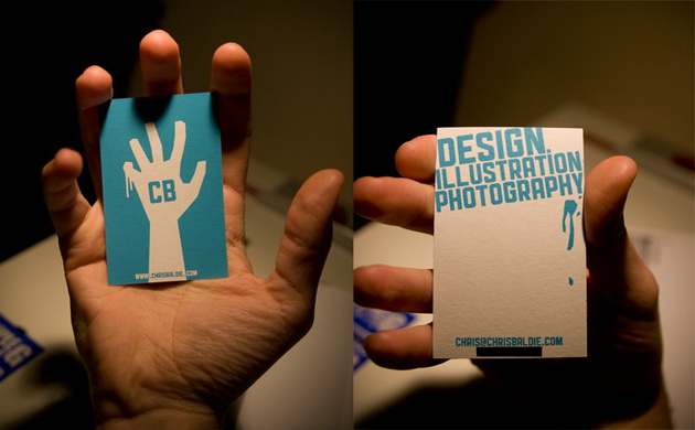 my influences - Screen Printing Business Cards