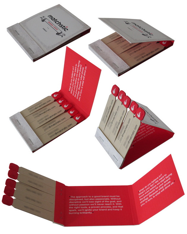 Great business cards design inspiration indeziner indeziner for Matchbook business cards