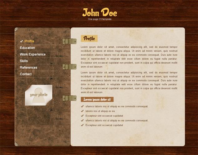 one page cv css template  u00bb scriptmafia org