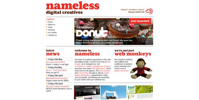 nameless web design