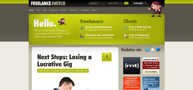 Jobs and Resources - FreelanceSwitch' - freelanceswitch_com