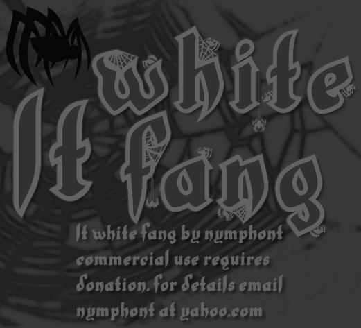 LT_White_Fang_Font_By_Nymphont_by_nymphont