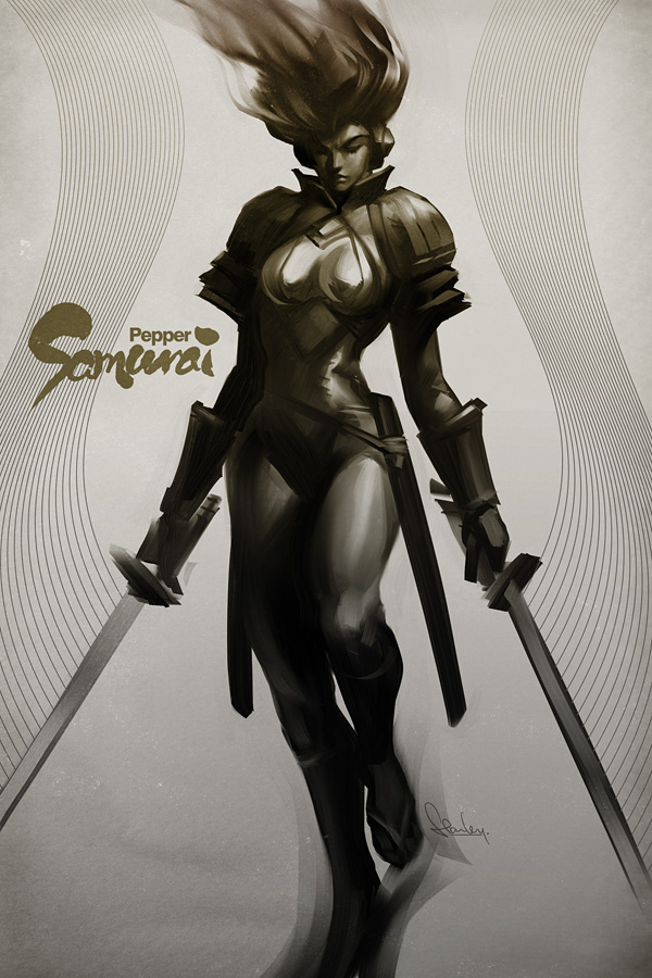 Pepper_Samurai_by_Artgerm