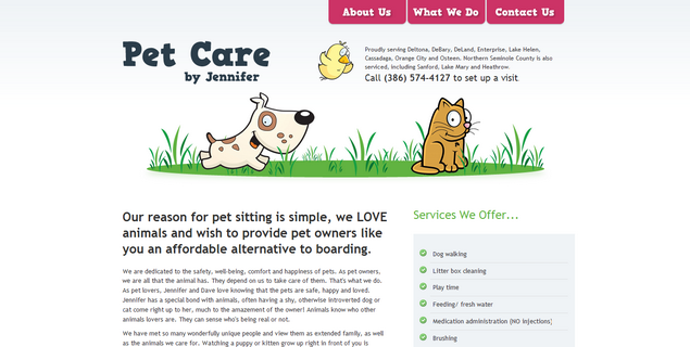 Pet Care www_petcarebyjennifer_com