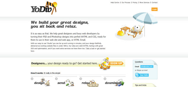 YoDiv » Home — Your PSD Design to XHTML and CSS' - www_yodiv_com