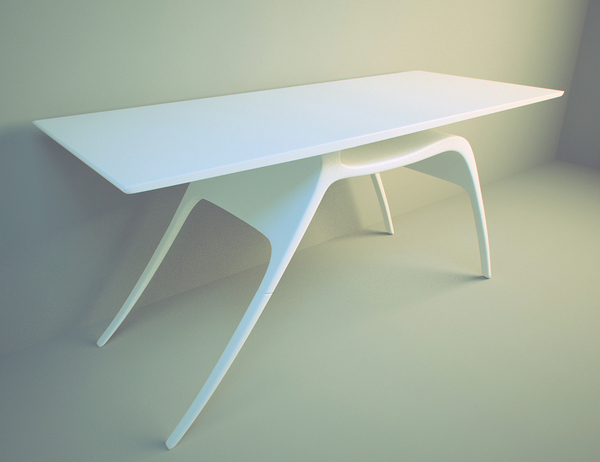 Writing desk inspired by the grace of a deer
