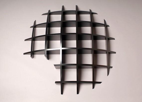 Sculptural shelf unit
