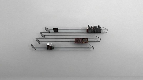 Illusion bookshelf