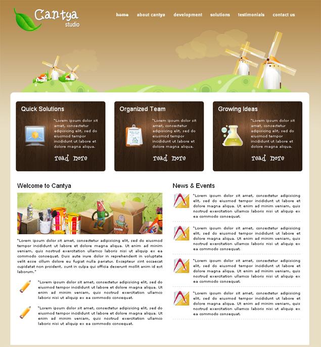 Cantya Studio CSS Template