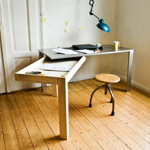 Unfolding modern desk