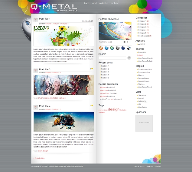Q-Metal Wordpress Template